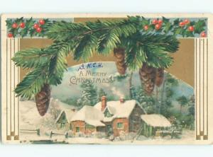 Divided-Back CHRISTMAS SCENE Great Postcard W9410