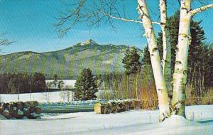 Mount Chocaorua In Winter In Center Foreground Lake Chocorua White Mountains ...