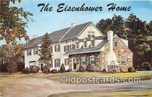 Gettysburg, PA, USA Postcard Eisenhower's Home