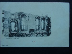 Warwickshire KENILWORTH CASTLE c1903 UB Postcard by B.& D. 1854