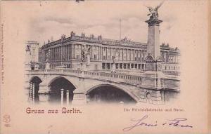Germany Berlin Gruss Aus Friedrichsbruecke &  Boerse 1900
