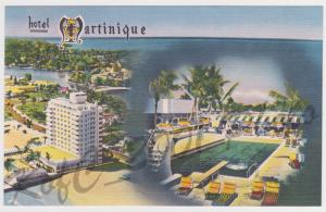 Hotel Martinique Miami Beach Vintage Postcard Colourpicture