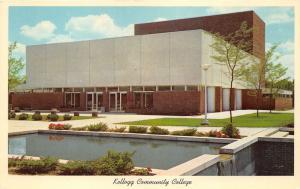 Battle Creek Michigan~Kellogg Community College Auditorium~1960s Postcard