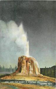 Lone Star Geyser C-1910 Yellowstone Wyoming Eruption Scheuber Drug 2319