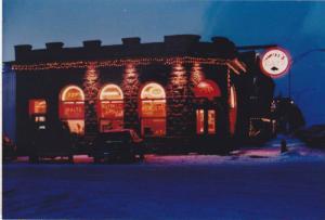 Mike's EATS Restaurant in Winter , DRIGGS , Idaho , 60-70s