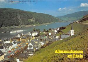Assmannshausen am Rhein Rathaus Auto Cars Church Kirche River Boats Schiff