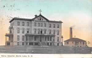 Devils Lake North Dakota~Mercy Hospital~2nd Empire, Italianate Architecture 1910