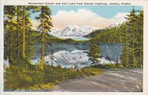 Alaska Juneau Mendenhall Glacier & Auk Lake From Glacier Highway