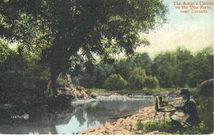 The Artist's Choice on Don River near Toronto Ontario ON Painter Postcard E13