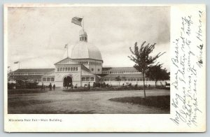 St Paul MN Main Building of the State Fair~Dome Top~Arch Doorway~c1906 UDB B&W
