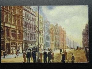 Liverpool POLICE GIVING DIRECTIONS on Castle Street c1905 Postcard by Dainty