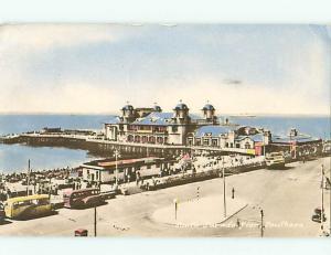 Portsmouth Southsea South Parade Pier Tour Buses Scotland  Postcard # 6395