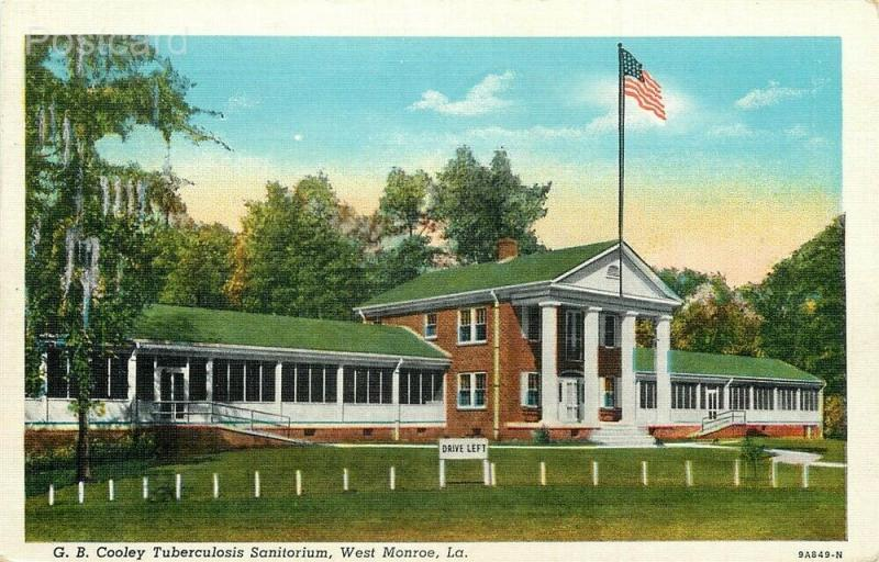 LA, West Monroe, Louisiana, Tuberculosis Sanatorium, Curteich No. 9A849-N
