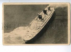 190538 TRANSATLANTIQUE FRENCH LINE ship NORMANDIE avant-garde