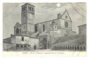 ASSISI, Chiese inferiore e superiore di S. Francesco, Pergia, Umbria, Italy, ...