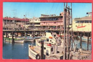 GREETINGS FROM FISHERMAN'S WHARF SAN FRANCISCO' CA  1963  SEE SCAN