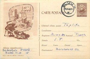 Industry Romania 1960s postal stationery postcard metal scrap ad