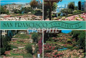 Modern Postcard In San Francisco Lombard The Crookedest Favorite Street in th...