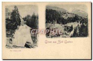 Old Postcard Gruss aus Bad Gastein Der untere Fall