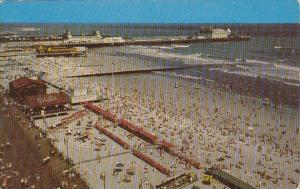 New Jersey Atlantic City Bathers and The Beach At Atlantic City