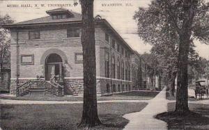 Illinois Evanston North West University Music Hall 1909