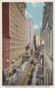 PHILADELPHIA, Pennsylvania, 1900-1910s; Chestnut Street, East From 16th Street