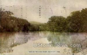 View on the Sioux River Sioux City IA 1909