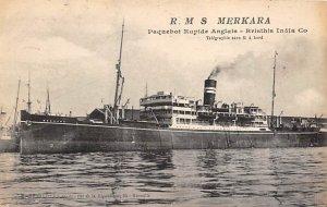 RMS Merkara British India Steam Navigation Co Ship 1921