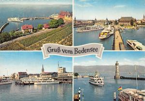 Gruss vom Bodensee, Hafen Schiff Harbour Boats Lighthouse Lion Statue
