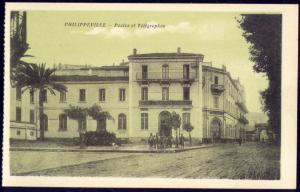 algeria, PHILIPPEVILLE SKIKDA, Postes, Post Office (1920s) Postcard