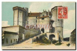 Old Postcard Saumur M and L South Chateau