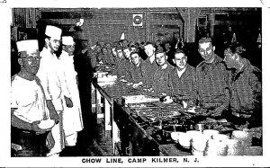 New Jersey Camp Kilmer Chow Line