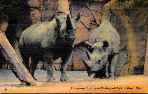 Michigan Detroit Zoological Park Rhinceros Exhibit