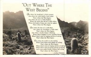 1940s Mojave Desert Saying Cactus Frasher RPPC Real Photo postcard 3890