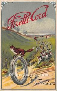 Pirelli Cord Fox on a tire Advertising Writing on back