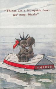 F.G. LEWIN: Couple on Upside down Boat, 1922