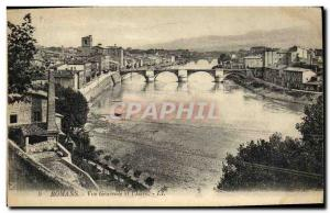 Old Postcard Romans Vue Generale and L Isere