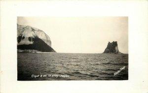 RPPC Postcard; Cape & Mt. St. Elias AK, Alaska Shop Photo ca.1924-1949 Unposted