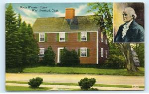 West Hartford Connecticut CT Noah Webster House Home Residence Postcard B30