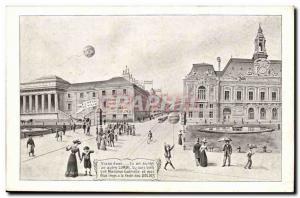 Old Postcard Paris Louvre Sales (whose business)