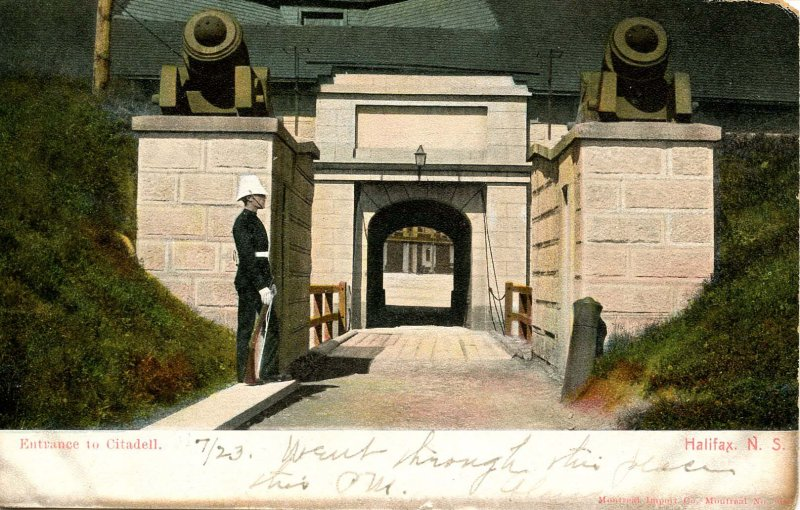 Canada - Nova Scotia, Halifax. Entrance to Citadell