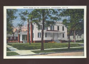 MONTGOMERY ALABAMA WHITE HOUSE OF CONFEDERATE STATES VINTAGE POSTCARD
