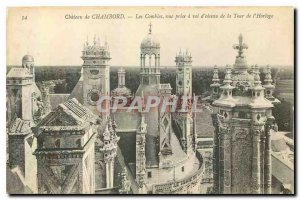 CARTE Postale Old Chateau Chambord the view taken attic has air from the Cloc...