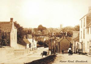 Vintage Reproduction Postcard c1900 Manor Road, Woodstock, Oxfordshire 4R