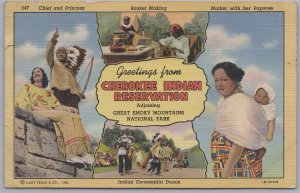 Greetings from Cherokee Indian Reservation, Great Smoky Mountains NP-1958