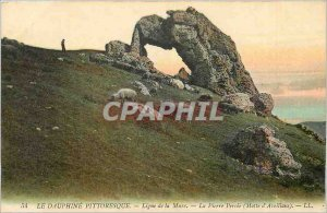 Old Postcard The picturesque Dauphine line Mure stone breakthrough Motte Avei...
