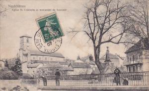 NEUFCHATEAU, Eglise St. Cristophe et monument du Souvenir, Vosges, France, PU...