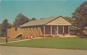 GLADE VALLEY NORTH CAROLINA SNOW ARMENTROUT AUDITORIUM~G V SCHOOL POSTCARD 1964