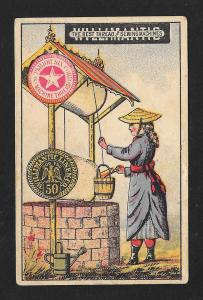 VICTORIAN TRADE CARD Willimantic Thread Chinese Water Well