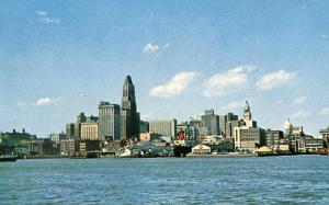 MD - Baltimore, Skyline & Inner Harbor - 1950's